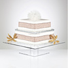 Square Shape Modern Perspex Cake Stand Pedestal Cake Display
