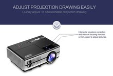 LED Projector 1500 Lumens Projector 1080P 1500 : 1 Contrast Ratio Projection with USB HDMI VGA AV Remote Controller for PC