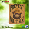 Classic style absorbent recycled paper car air fresheners
