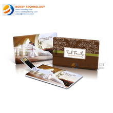 U003-Full colors printing credit card USB drive, business card USB stick.