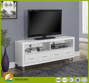 Wholer Walnut Fancy Design Led Tv Stand Unit