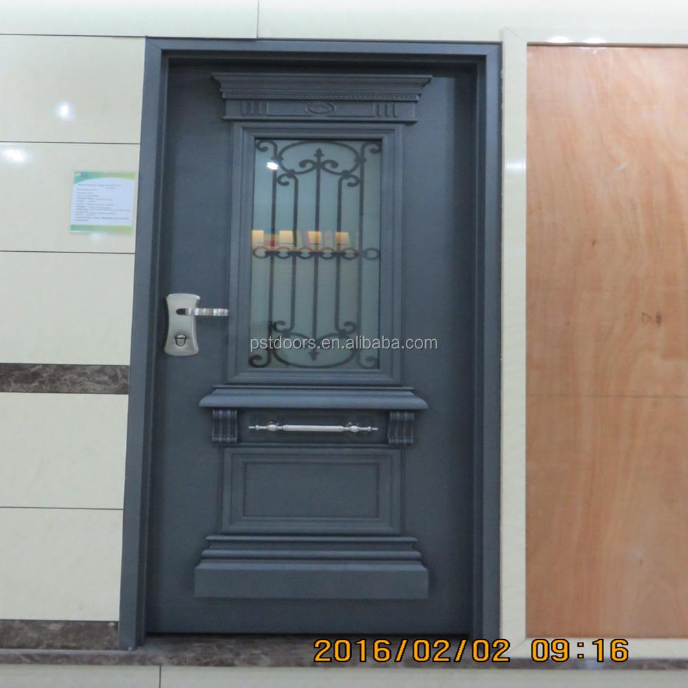 High Quality Israel Steel Door With 4 Way Lockpeepholeand Down