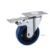 5 inch industrial blue PU caster wheels