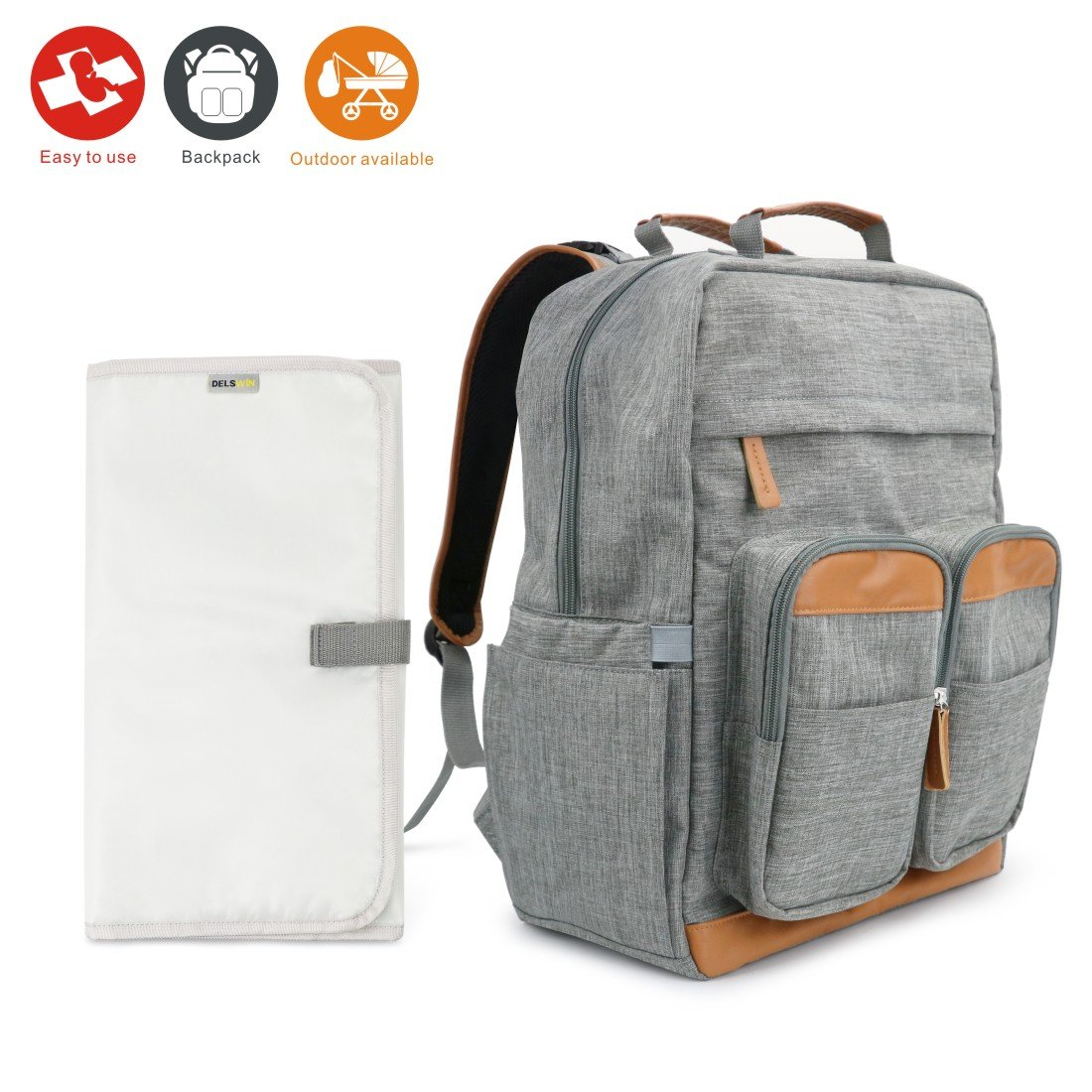 54d3a203eb Get Quotations · Idefair(TM) Diaper Bag Backpack