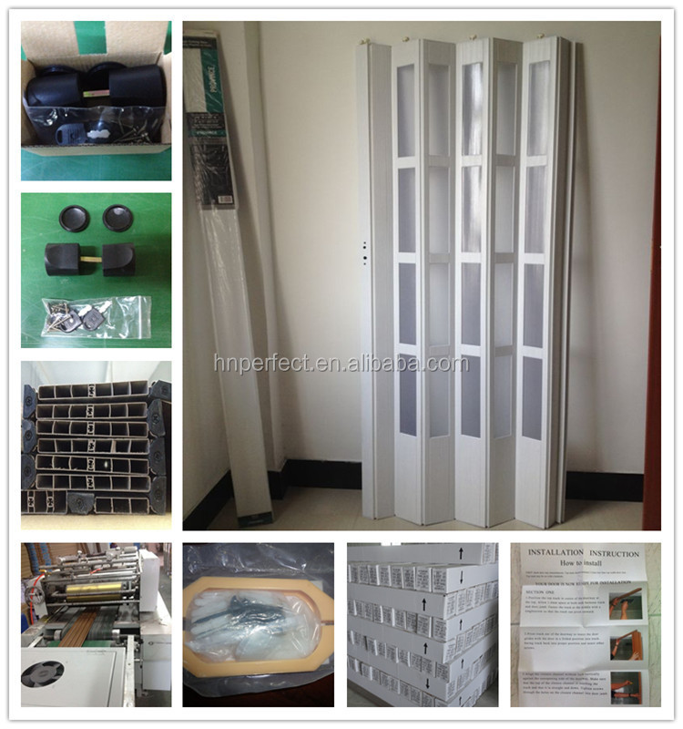 Pvc Folding Door Pvc Accordion Door For Interior Decoration From