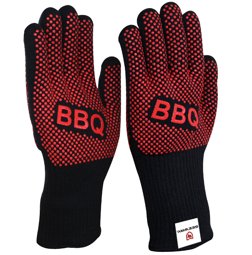 Seeway Heat Resistant BBQ Oven Gloves for Barbecue Cooking Grilling