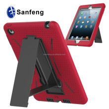 Silicon and Pc Hard Cover For Ipad Mini 1 2 3 4 With Kickstand Case