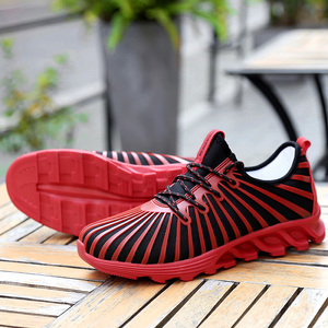 2017 Unique modern design PVC injection mesh upper men sports shoes running