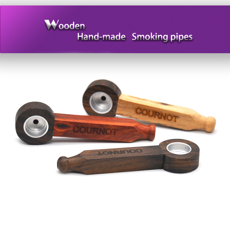 Newly Arrived 3 styles Creative Smoking Pipe Wood Pipe Portable Tobacco Pipes with Metal Screen Filter Gifts