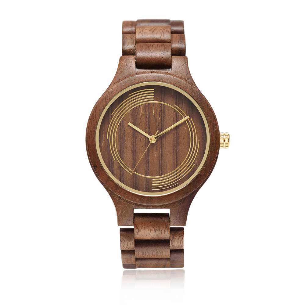fashion dress wholesale wood watch box customized unisex watch face with your own logo wooden watch bamboo