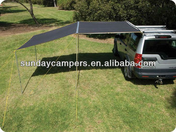 25M Awning Roof Top Tent Camper Trailer 4WD 4X4 SIDE Car Rack Pull Out