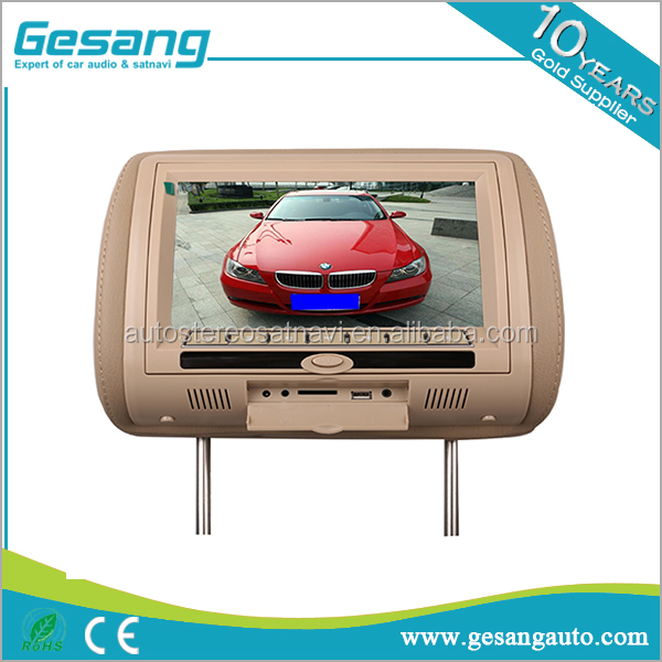 universal Headrest Monitor Built-In DVD Player