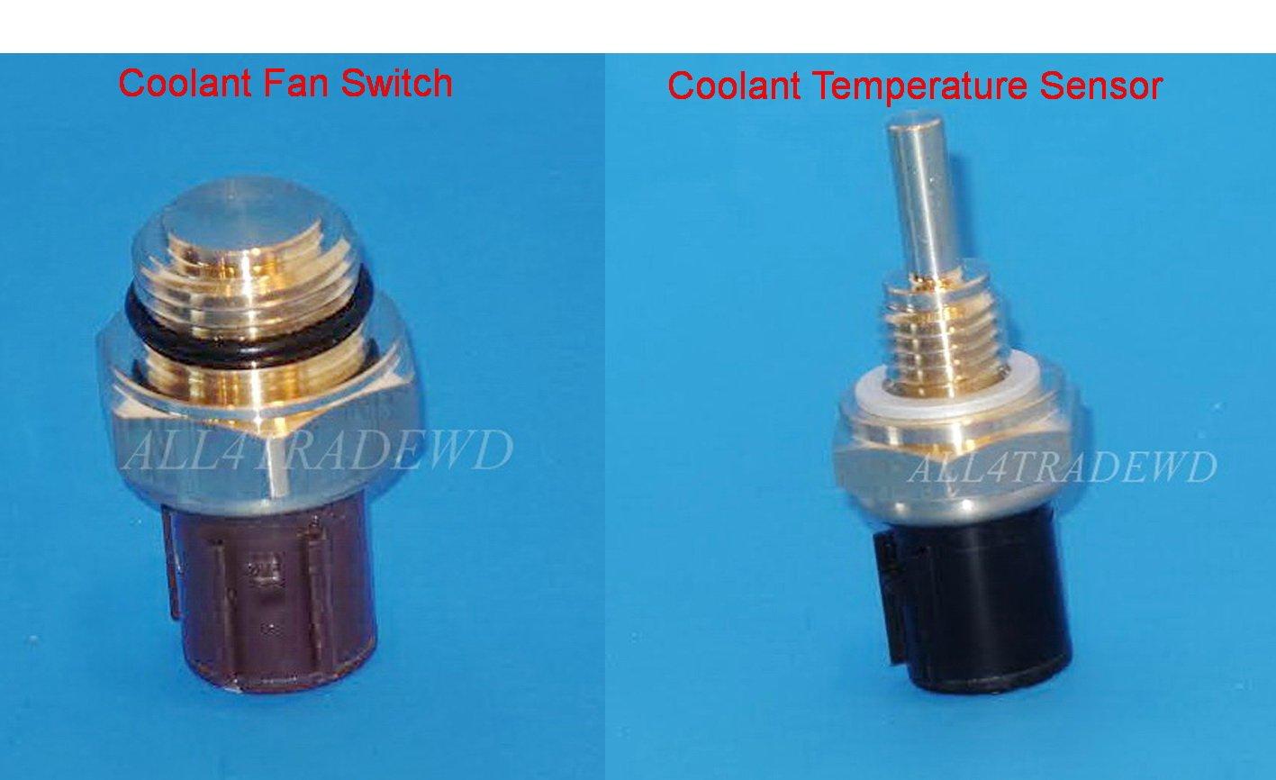 Set of 2 (37760-P00-003 + 37870-PJ7-003)Coolant Fan Switch & Coolant Temperature Sensor Fits:Acura CL Integra MDX·02 TL Honda·Accord Civic Civic del Sol CR-V·Insight· Odyssey 1 Pilot S2000 Isuzu·Oasis