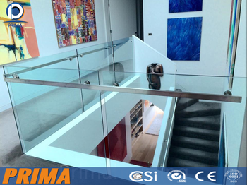 Stainless Steel Handrail Railing Aluminum U Channel Base Glass ...