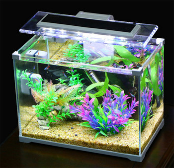 Aquarium SUNSUN Low Iron Glass Cube Garden Mini Fish Tank Fish Aquarium  Office Table