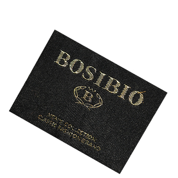 High quality custom clothing main woven label with great price