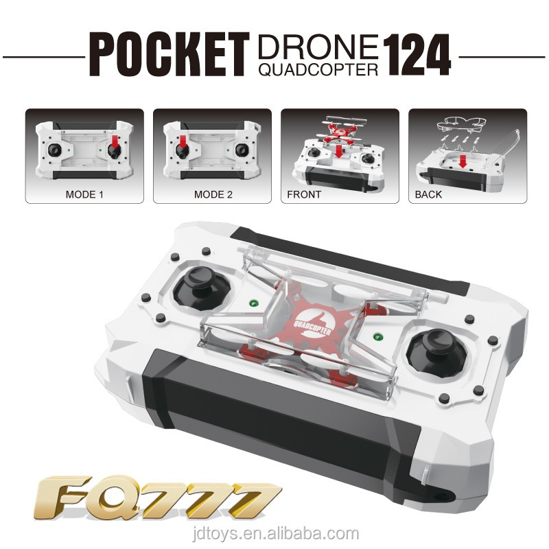 Baby Toys 2016 Pocket Drone/RC Quadcopter with Switchable Controller FQ777-124