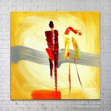 Abstract couples canvas sharp colour art oil painting