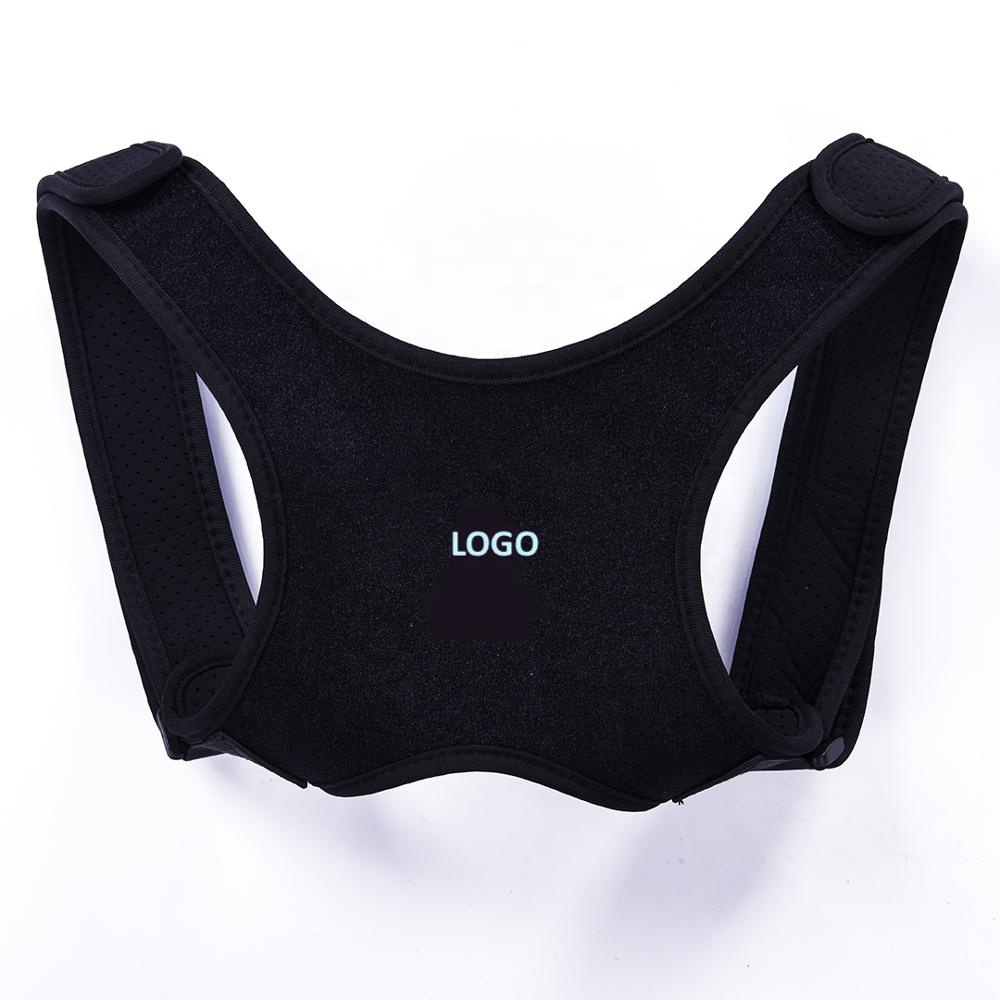 Unisex Upper Back Posture Support Corrector Brace Shoulder Support Clavicle Brace with Custom Bundle Pack, Black or other custom color