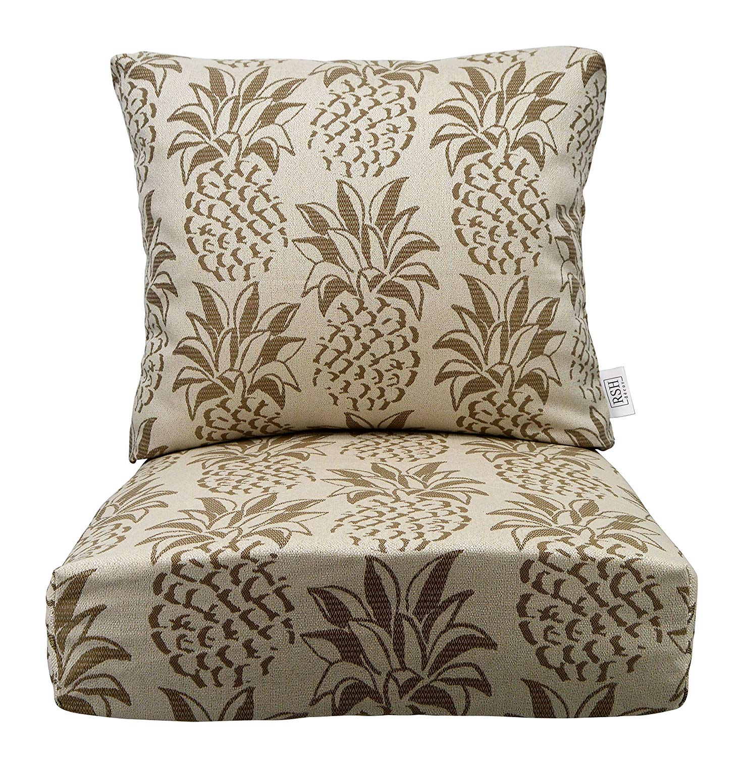 Get Quotations Rsh Décor Indoor Outdoor Woven Pinele Cushion Sets For Patio Deep Seating Chair