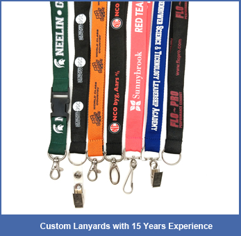 Jacquard polyester custom woven logo embroidered key chain lanyard