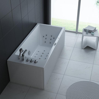 CE TUV Certificated Corn hot bath,RT1803 portable massage hot tubs with heater acrylic air&whirlpool bathtub for adults