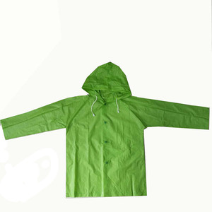 Hot sales cheap portable waterproof fabric pvc children's ' raincoats hooded