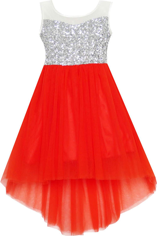 Gouache Sequined Tulle Teen Girls Wedding Party Dress Girls Princess Dresses