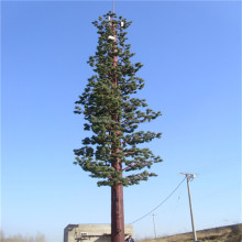 Year-end promotion galvanized artificial camouflaged pine tree tower