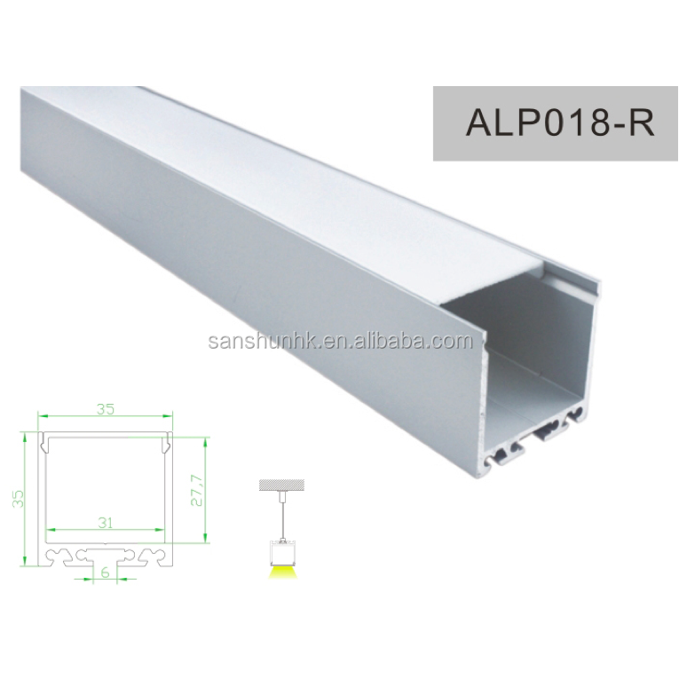 factory price square shape 35x35 ALP018-R led <strong>aluminum</strong> profile