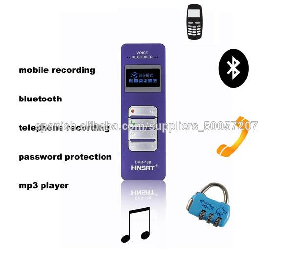 Bluetooth grabadora de voz digital profesional con micrófono externo ...