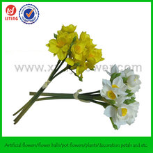 36CM Daffodils Artificial Flowers,Mini Artificial Silk Flowers,Small Bunch Flowers