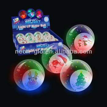 Wholesales Christmas Light Up Water Ball Buy Light Up