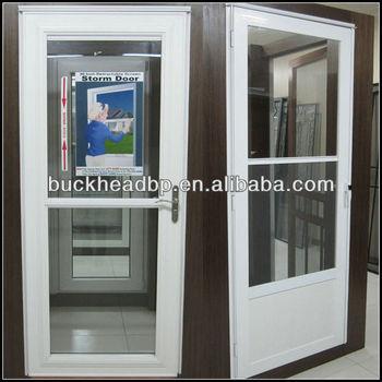 Vinyl retractable screen storm door buy storm door for Vinyl storm doors