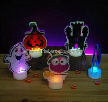 Arts Crafts Stocks Souvenir For Kids Battery Operated Halloween Plastic  Figure Led Tealight Candles - Buy Tealight Led Candles,Tealight