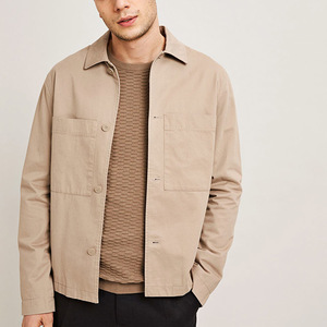 Fashion Men's Custom Winter Brown Cotton Coach Jacket