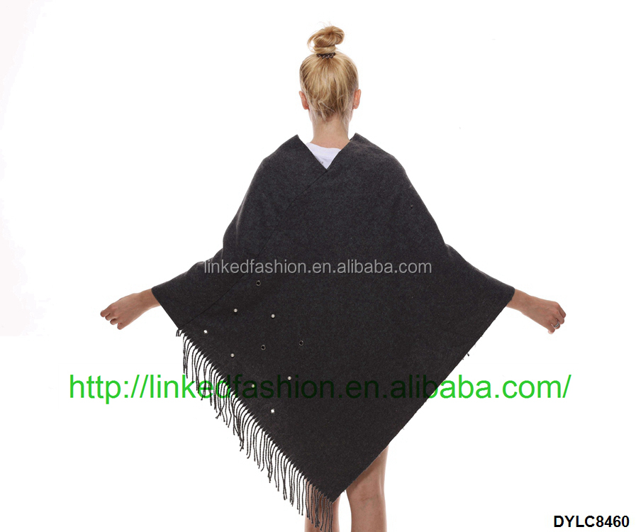 OEM Women High Quality Cashmere Poncho