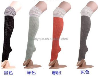 женщины чулки трикотажные гетры загрузки носки вязаный крючком