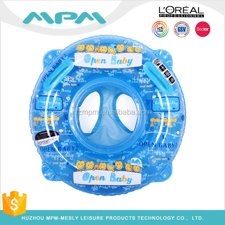 Hot Sale Baby Swim Ring Float Seat Inflatable Toddler Swim Ring With Seat & Canopy