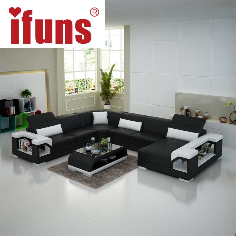 Good Quality Leather Sofa: IFUNS Modern Living Room Furniture,special Design Couch