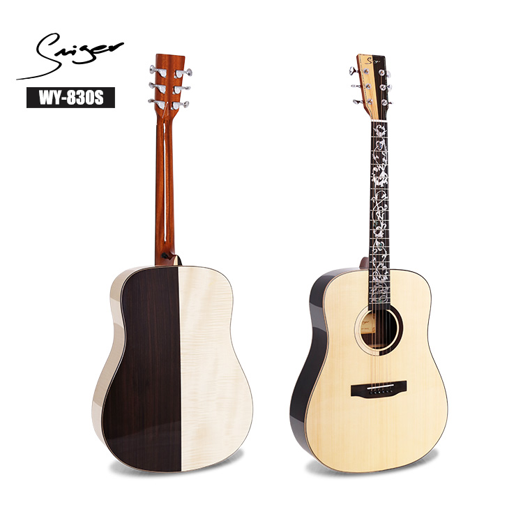 Oem đặc biệt custom design art Rắn Top Acoustic Guitar