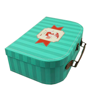 Paper cardboard suitcase gift box