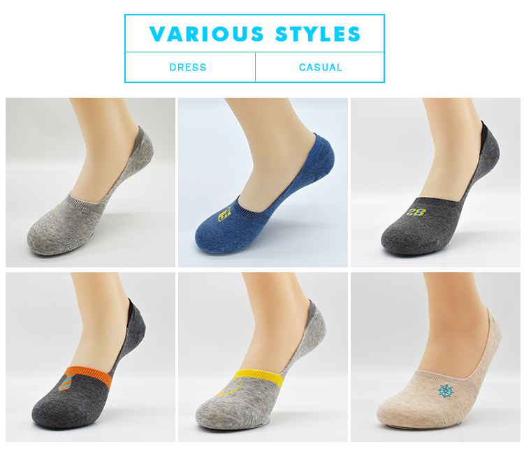 Solid Color Ankle Socks Length No Show Invisible Low Cut Men Socks