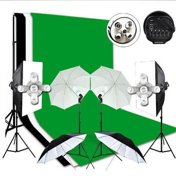 3x6M Green Screen Backdrop Photography Softbox Lighting Light Stand Studio Kit