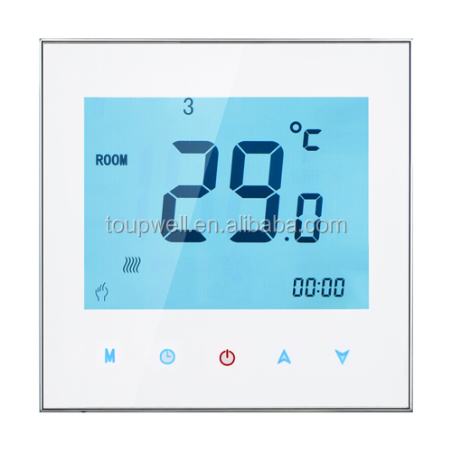FCU Wall mounted thermostat with lock function