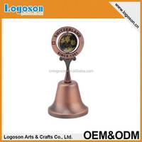 High quality alibaba best sale Switzerland antique brass hand bell souvenir dinner bell