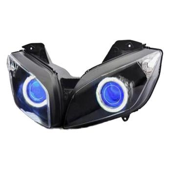 Led Blue Devil Demon Eye Hid Projector Headlight For Yamaha R15 - Buy Devil  Eye Projector Headlight For Yamaha,R15 Led Headlights,Projector Headlights