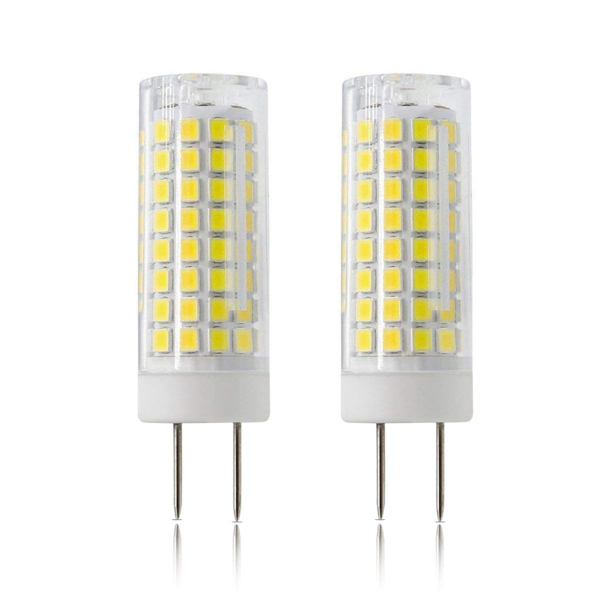 LED GY8.6 Bulb, All-New 7W T4 G8 LED Bulb, 75W Halogen Bulb Replacement, GY8.6 Bi-pin Base Light Bulb, AC120V, for Under Counter Kitchen Lighting, Light Fitting, 2-Pack (G8-White)