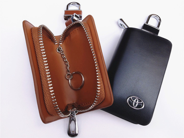 Automotive leather key package Car key case can choose car LOGO FreeShipping
