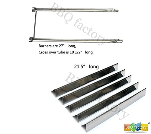 bbq factory® Replacement Weber Spirit 500 and Genesis Silver A grills Repair Kit Stainless Steel Flavorizer Bars and Stainless-Steel Burner Tube Set